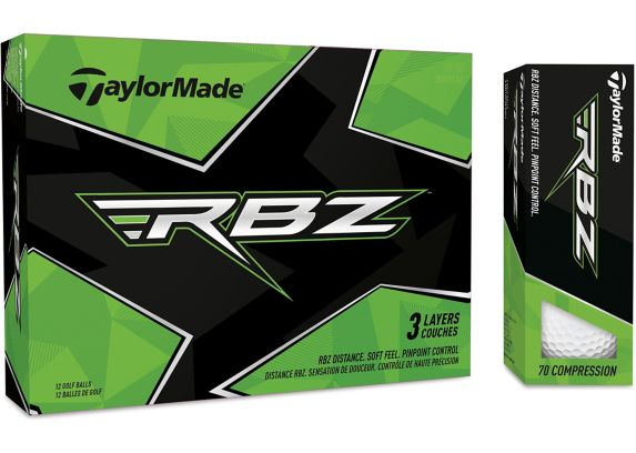 Balles de golf souples TaylorMade RBZ 3 couches, choix varié, paq. 12 Image de l'article