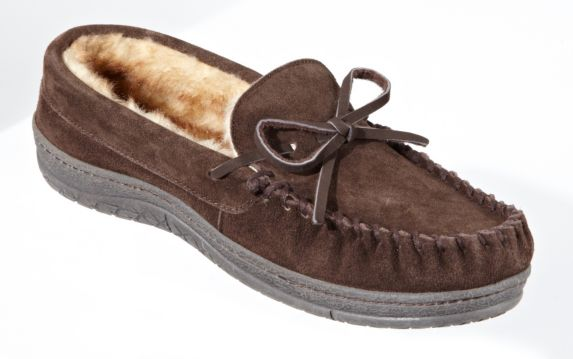 Broadstone Women's Chocolate Suede Moccasin Product image