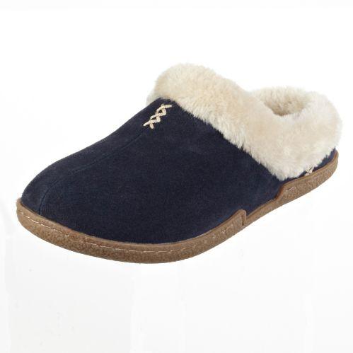 Broadstone Women's Blue Suede Slide Slipper Product image