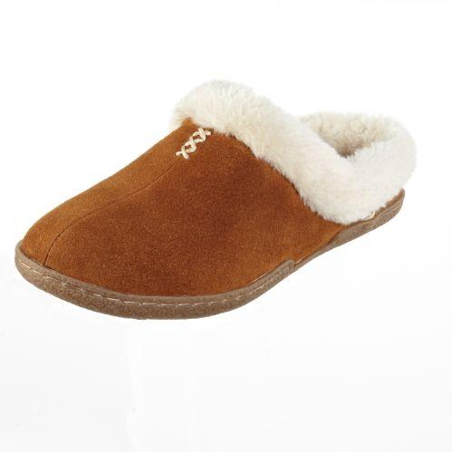 Broadstone Women's Tan Suede Slide Slipper Product image