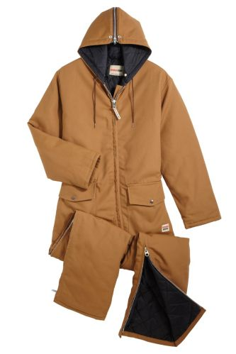 Work King Insulated Duck Coveralls with Hood, Brown Product image