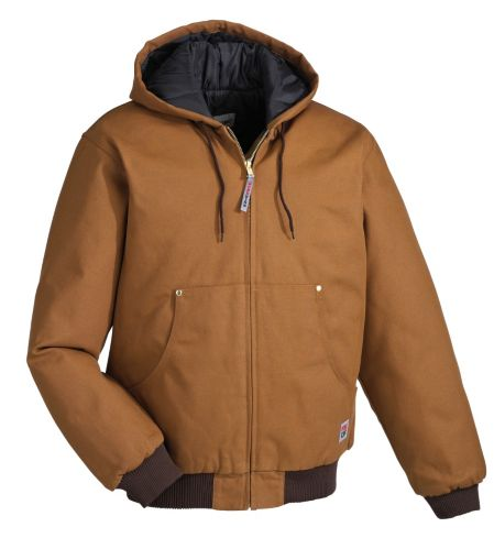Work King Insulated Duck Bomber Jacket with Hood, Brown Product image