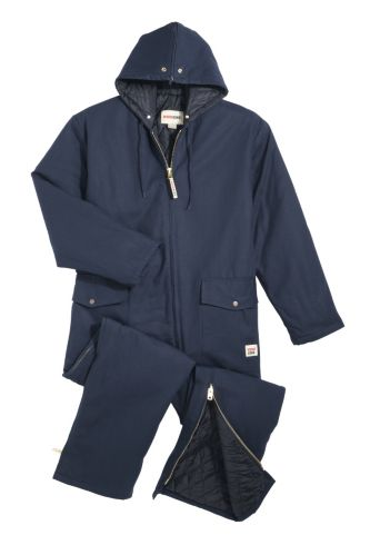 Work King Insulated Duck Coveralls with Hood, Navy Product image