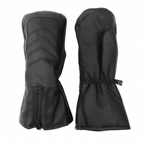 Men's Leather Palm Kombi Snowmobile Mitts, Black Product image