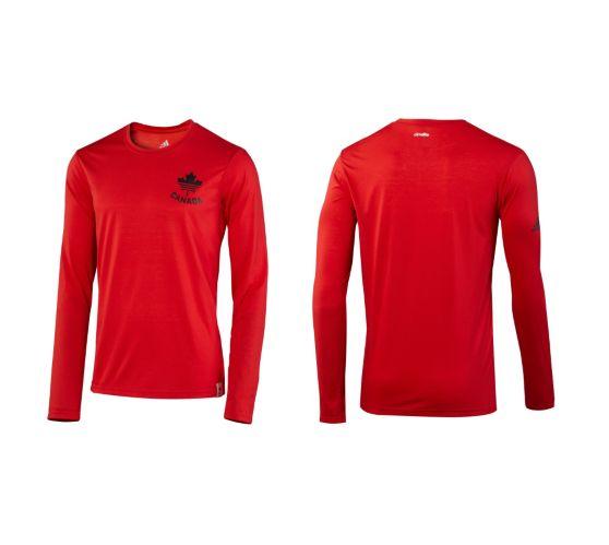 Chemise à manches longues COC Adidas, rouge Image de l'article