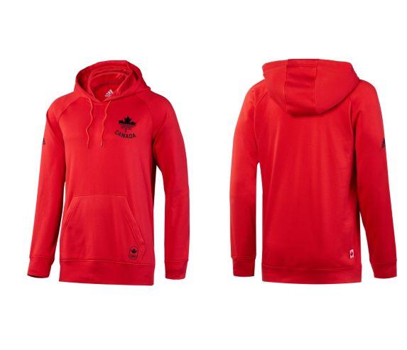Pull à capuchon COC Adidas, rouge Image de l'article