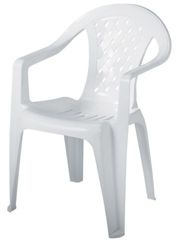 Gracious Living Trellis Chair, White Product image