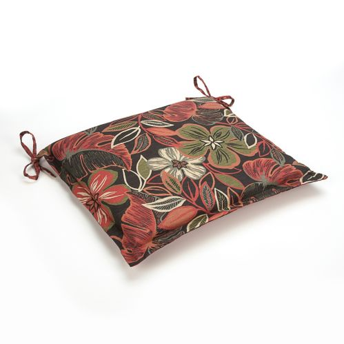 Coussin de siège, noir/motifs floraux Image de l'article