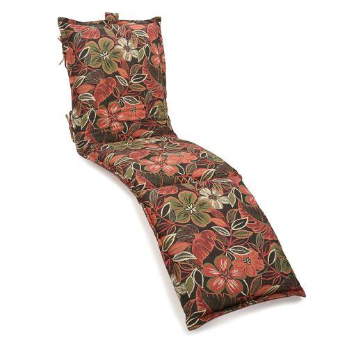 Coussin de chaise longue, noir/motifs floraux Image de l'article