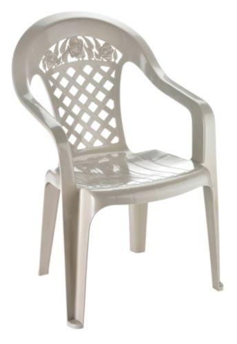 Gracious Living Garden Lattice Patio Chair, Sandstone Product image