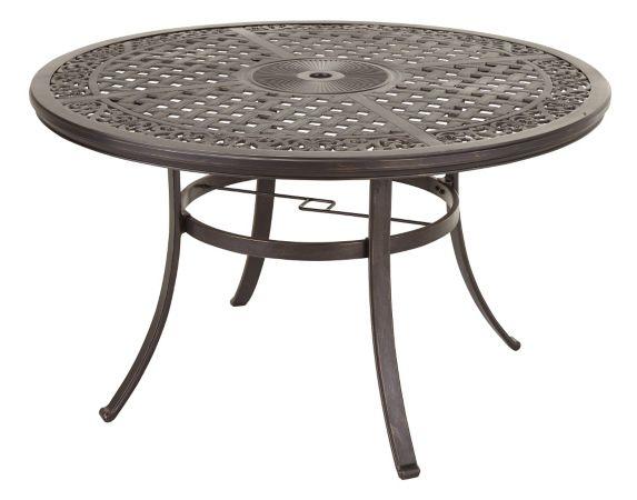 Table de jardin ronde CANVAS Covington fonte aluminium 48 po Image de l'article