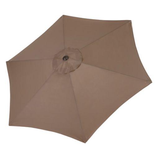 Parasol de jardin rond CANVAS Covington, brun 9 pi Image de l'article