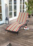 CANVAS Prescott Stripe Patio Chaise Lounge Chair Cushion | CANVASnull