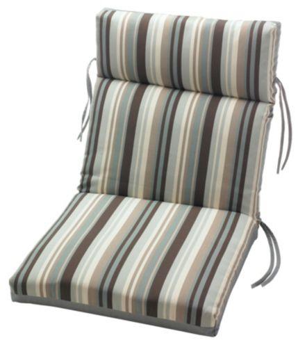 Coussin, fauteuil de terrasse, rayures sarcelle Image de l'article
