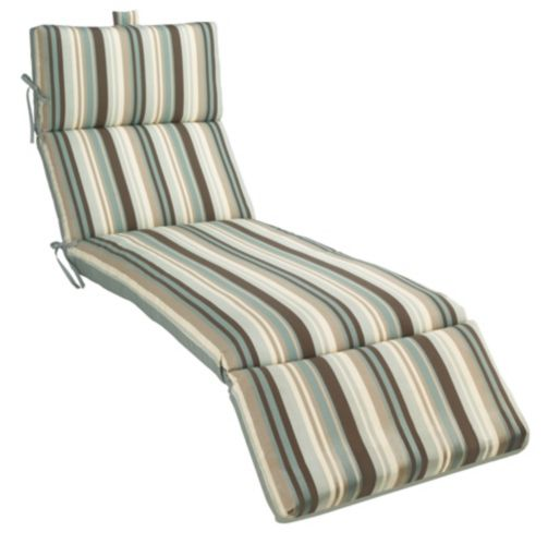 Tuscany Stripe Spa Collection Chaise Lounge Cushion, Teal-Striped Product image