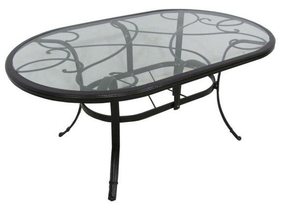 Table de jardin à plateau en verre La-Z-Boy, collection Camden Image de l'article