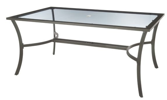 Luca Collection Glass Patio Dining Table Product image