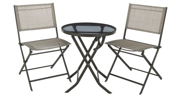 Luca Collection Folding Bistro Set, 3-piece Product image