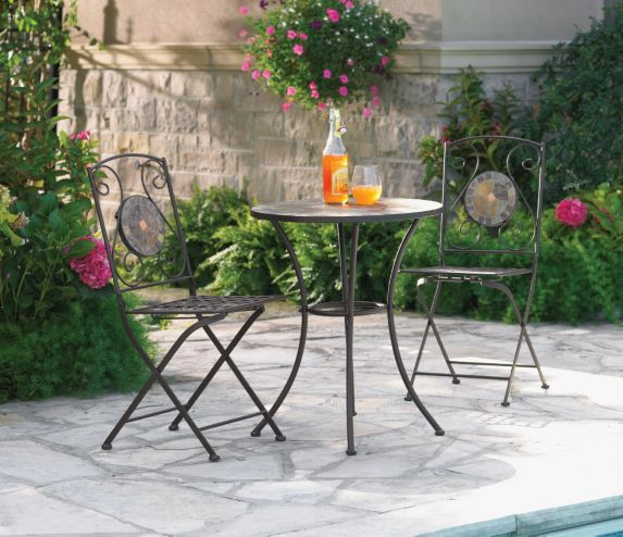Stone Bistro Folding Dining Set, 3-pc Product image