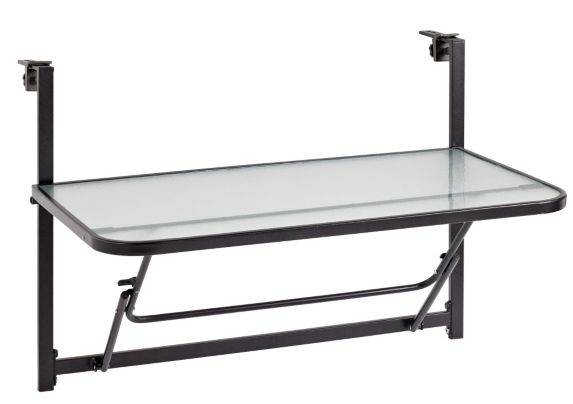 Parsons Collection Folding Balcony Table, 36x20-in