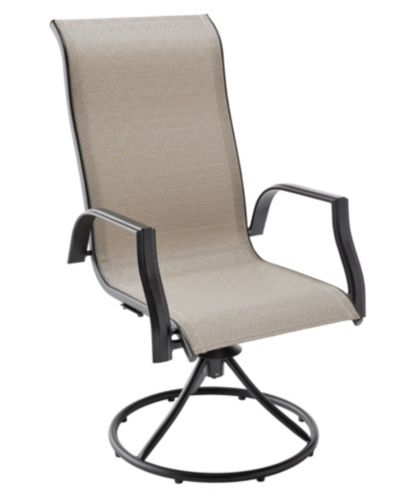 Parsons Collection Sling Swivel Patio Dining Chair Product image