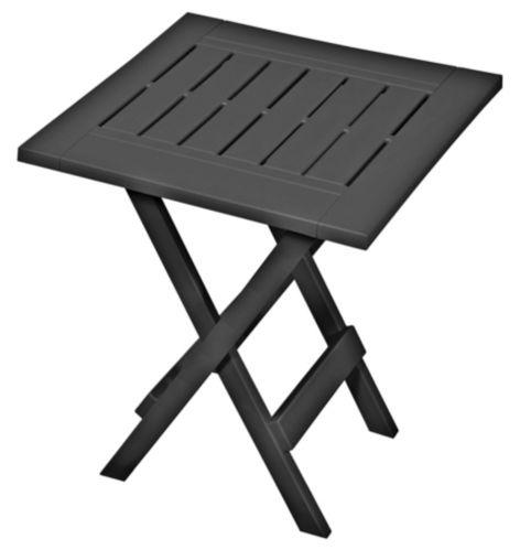 Adirondack Folding Patio Side Table, Grey Product image
