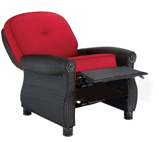 La-Z-Boy Whitley Patio Woven Recliner, Red Product image