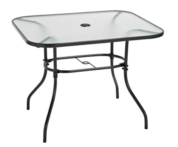 Colton Collection Glass Patio Dining Table, 38x32-in Product image