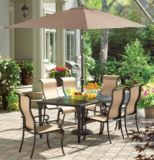 La-Z-Boy Aberdeen Collection 4-Post Cast Patio Dining Table | Aberdeen Collectionnull
