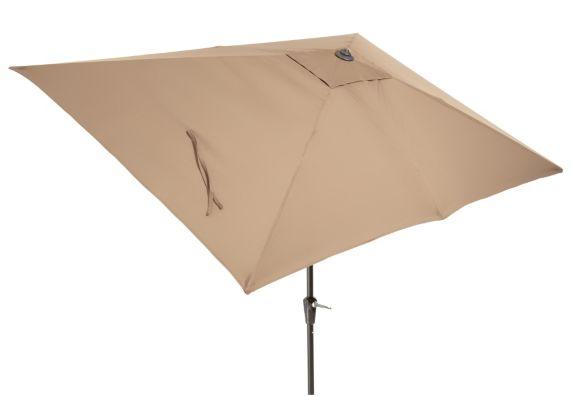 La-Z-Boy Aberdeen Collection Rectangular Patio Umbrella, Tan, 9x6-ft Product image