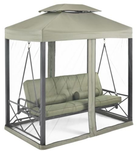 Monterey Collection Day Bed and Swing with Netting, Green Product image