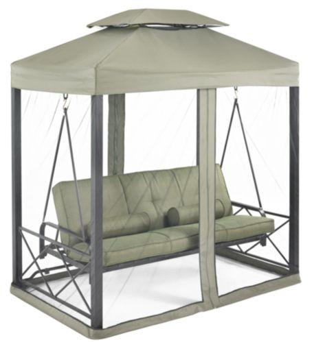 Lit balançoire avec moustiquaire, collection Monterey, vert Image de l'article