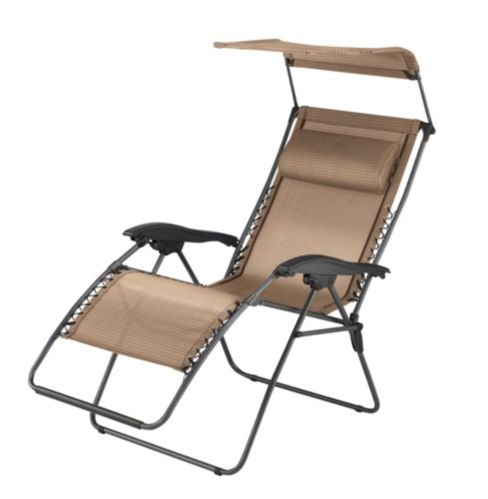 Zero Gravity Chair with Hood, Beige Product image