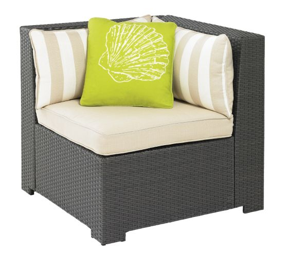 Cabana Collection Wicker Patio Sectional Corner Chair Product image