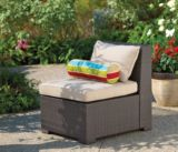 Cabana Collection Wicker Sectional Middle Chair | FOR LIVINGnull