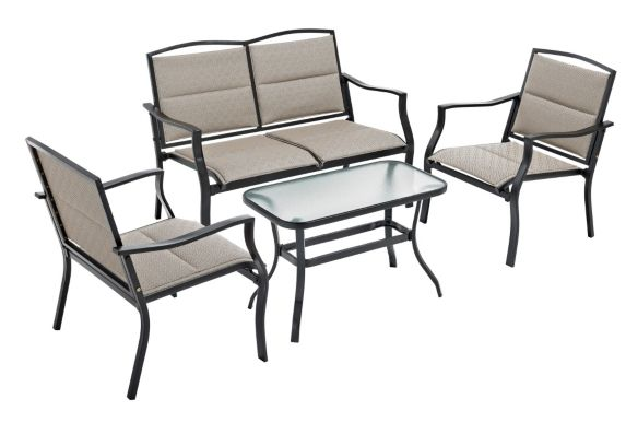 Parsons Collection Padded Sling Patio Conversation Set, 4-piece Product image