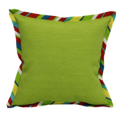 Coussin décoratif à collerette CANVAS, rayures, vert Image de l'article