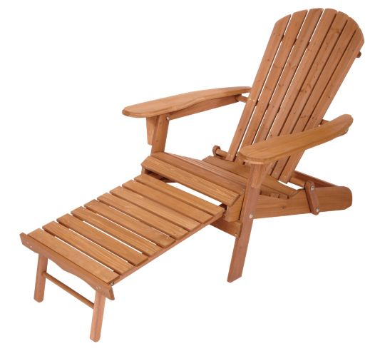 Folding Adirondack Chair with Ottoman Product image