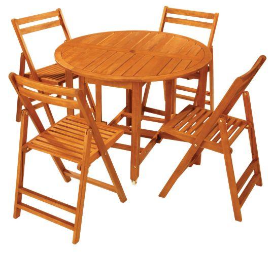 Portable Wood Dining Set, 5-pc Product image