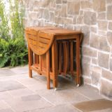 Portable Wood Dining Set, 5-pc | FOR LIVINGnull