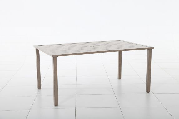 Lakeside Collection Aluminum Slat Dining Table Product image