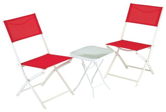 Sling Bistro Folding Chair, Red Product image