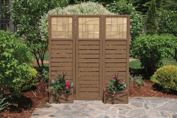 Écran d'intimité à 3 panneaux avec jardinières Image de l'article