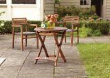 Table de jardin ronde CANVAS, en teck | CANVASnull