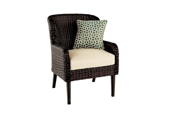 CANVAS Brooke Wicker Dining Chair with Toss Cushion Product image