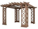 Yardistry Arched Roof Pergola Kit, 12 x 12-ft | Yardistrynull