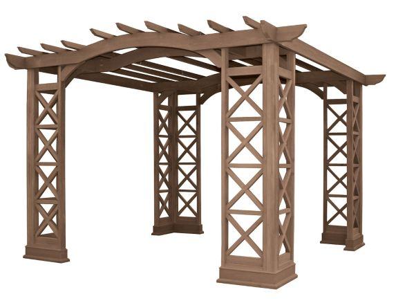 Pergola à toit en arche Yardistry, 12 x 12 pi Image de l'article