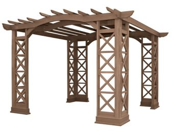Yardistry Arched Roof Pergola Kit, 12 x 12-ft