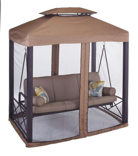 CANVAS Valencia Patio Swing Daybed with Netting Product image