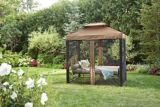 CANVAS Valencia Patio Swing Daybed with Netting | CANVASnull